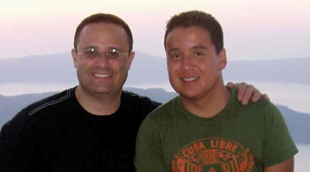 Seeking Reconition: Joshua Goldberg, left, and Bayardo Alvarez were married in Canada. But Israel's Interior Ministry has yet to respond to Alvarez's request for citizenship.